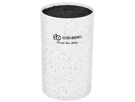 Blok Edenberg EB 5101 W uniwersalny stojak do noży kuchennych Biały Marmur