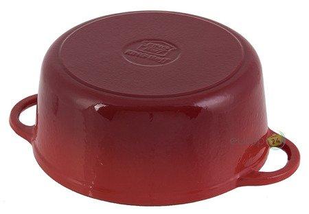 Brytfanna żeliwna KingHoff KH 2263 Emaliowana 2.4L Gęsiarka czerwona pokrywka