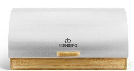 Chlebak Edenberg EB 083 metalowy Pojemnik na pieczywo Biały