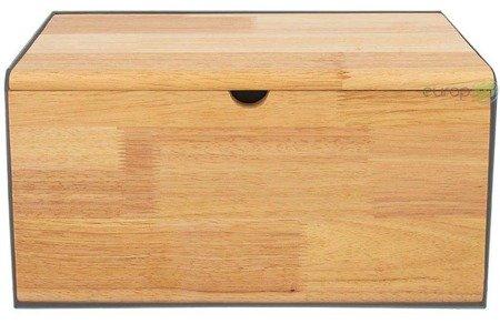 Chlebak Klausberg KB 7395 metalowy pojemnik na pieczywo deska szary
