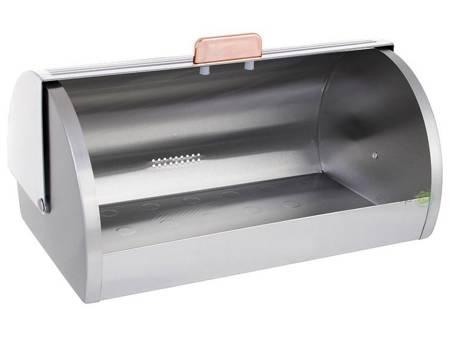 Chlebak stalowy Klausberg KB 7270 metalowy pojemnik na pieczywo Biały