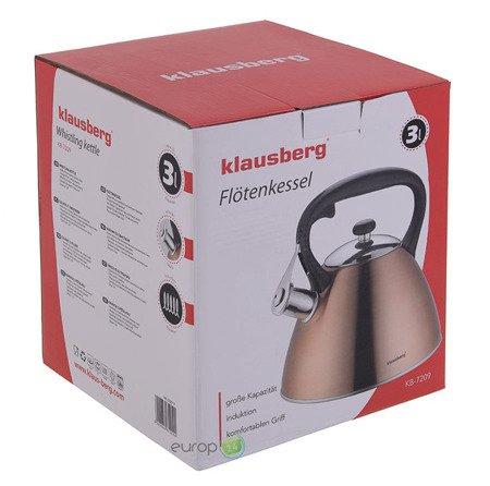 Czajnik Klausberg KB 7209 Stalowy z gwizdkiem miedziany