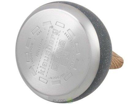 Czajnik stalowy Edenberg EB 8802 Tradycyjny z gwizdkiem na indukcje 3L Szary marmur
