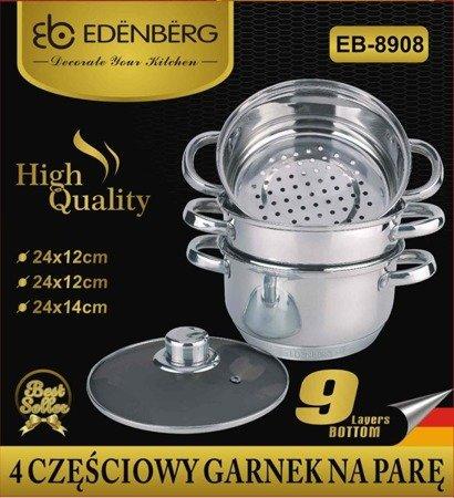 Garnek Edenberg EB 8908 24 cm garnki do gotowania na parze