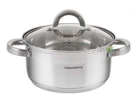 Garnek Klausberg KB 7136 18 cm garnki do gotowania na parze 2.5 L