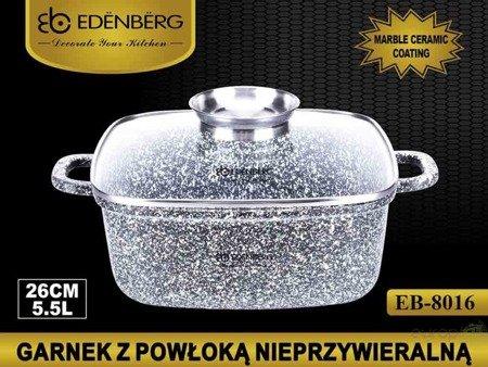 Garnek Marmurowy  Edenberg EB 8016 Brytfanna gęsiarka 5.5L INDUKCJA