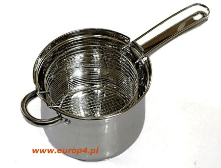 Garnek stalowy do smażenia frytek KingHoff KH 4581 3,6 l