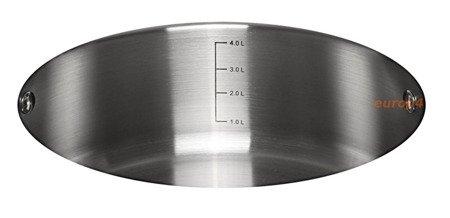 Garnek stalowy z pokrywką Klausberg KB 7174 gaz indukcja 6 L