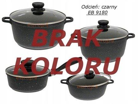 Garnki EDENBERG zestaw garnków marmur INDUKCJA GAZ