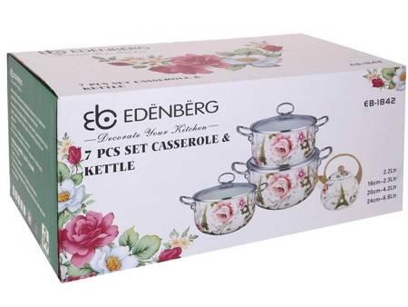Garnki Emaliowane Indukcyjne Edenberg EB 1842 Zestaw garnków + czajnik