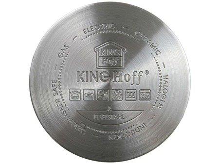 Garnki KingHoff KH 1201 indukcyjne zestaw 10 elem stalowych garnków