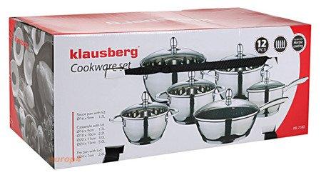 Garnki Klausberg KB 7180 Komplet garnków stalowych