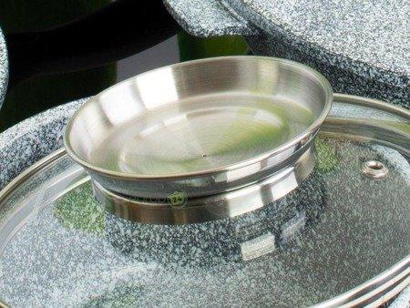 Garnki Klausberg KB 7324 Zestaw garnków granitowych indukcyjnych