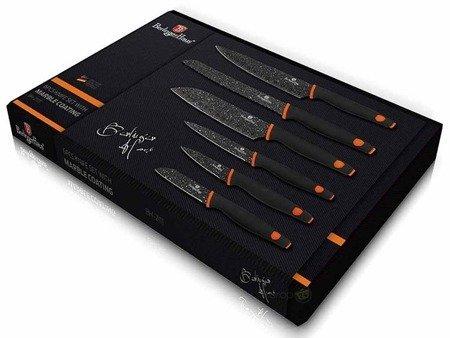 Garnki granitowe Zilner ZL 8515 Indukcja zestaw garnków z nożami