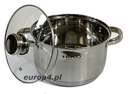 Garnki indukcyjne Frico FR 1154 zestaw garnków stalowych 8 elem