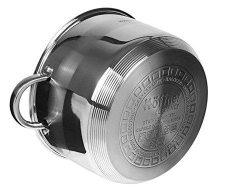 Garnki stalowe Hoffner HF 4486 6 zestaw garnków garnek gaz indukcja