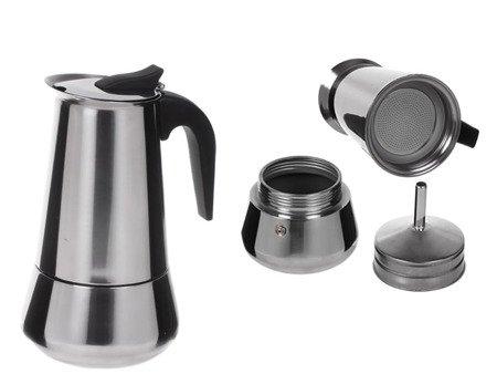 Kawiarka Kinghoff KH 1044 200 ml kafetiera 4 zaparzacz stalowy do kawy