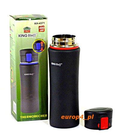 Kubek termiczny Kinghoff KH 4371 KB 7103 termos pojemnik bidon 480 ml czerwony