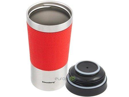 Kubek termiczny Klausberg KB 7333 termos bidon 380 ml czerwony