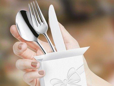Łyżeczki restauracyjne Amefa Bologna 1570 do lodów deserów 6 sztuk do kawiarni