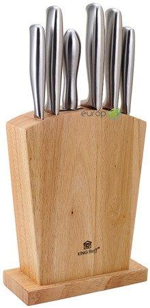 Noże KingHoff KH 1154 kuchenne stalowe + stojak Zestaw noży