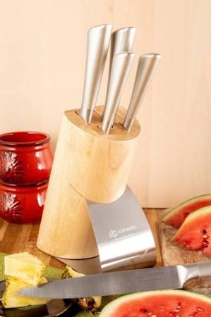 Noże kuchenne stalowe Edenberg EB 938 5 szt w drewnianym stojaku