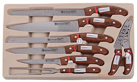 Noże kuchenne stalowe w walizce Hoffner HF 7199 sztućce