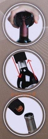 Otwieracz KingHoff KH 1150 do wina Korkociąg elektryczny