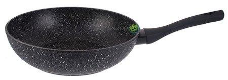 Patelnia granitowa indukcyjna  Metlex MX 0897 czarna wok 28 cm
