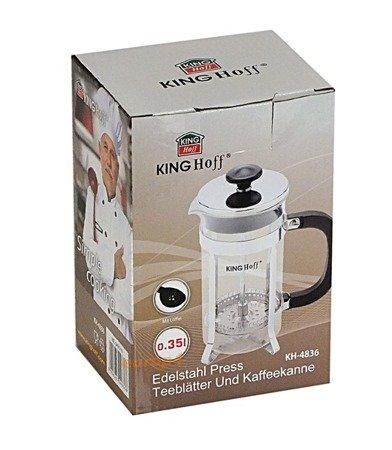 Szklany KingHoff KH 4837 zaparzacz do herbaty ziół kawy dzbanek