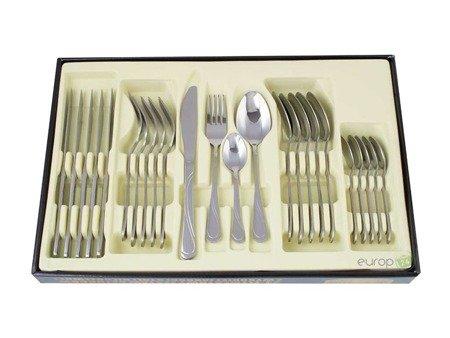 Sztućce Edenberg 24 elementy zestaw Srebrny wzór EB 5801 dla 6 osób