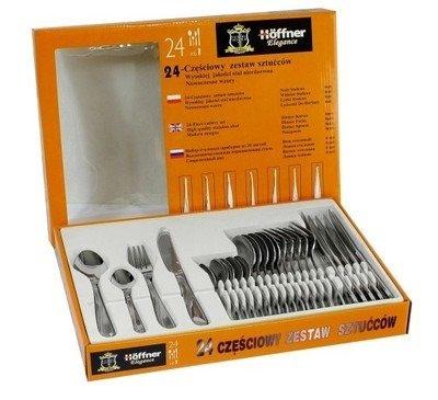 Sztućce Hoffner HF 38560 zestaw na 6 osób noże+widelce+łyżki srebro Wzór HF 2670