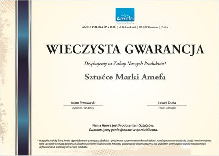 Sztućce Metropole 1170 Amefa 60 elementów dla 12 osób stal 18/10