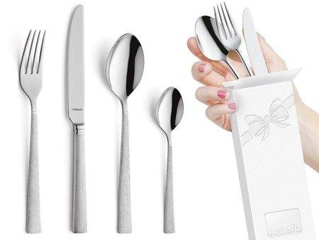 Sztućce obiadowe Amefa Jewel 8010 4 elementy dla 1 osoby 18/10
