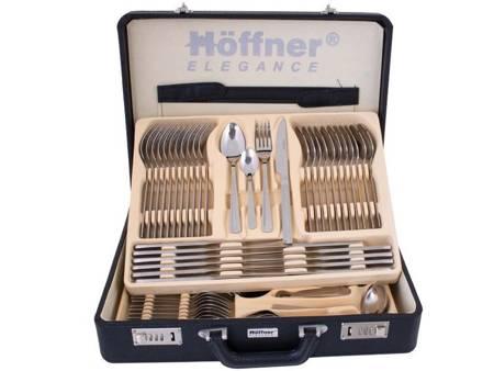Sztućce w walizce Hoffner HF 2745 72 elementy 12 osób zestaw widelce+łyżki+walizka połysk