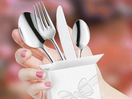 Sztućce weselne obiadowe Amefa Carlton 1050 48 elementów na wesela
