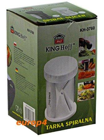 Temperówka Kinghoff KH 3760 do Warzyw Dekoracji Potraw Carving szara