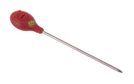 Termometr KingHoff KH 1149 kuchenny gastronomiczny mięsa szpilkowy czerwony
