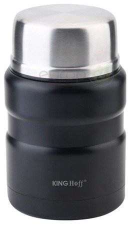 Termos obiadowy Kinghoff KH 1459 Pojemnik bidon 500 ml składana łyżka w zestawie